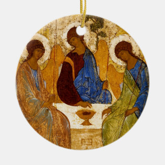 Trinité de Rublev au Tableau Ornement Rond En Céramique