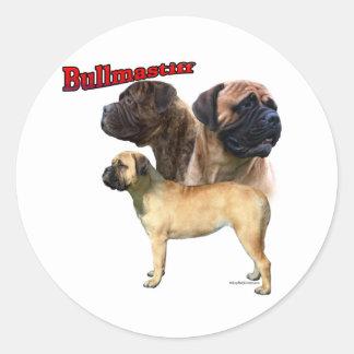 Trio 2 de Bullmastiff - autocollant