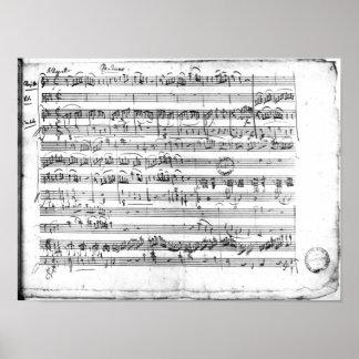 Trio, dans d'E commandant 'Kegelstatt à plat Posters