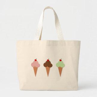 Trio de crème glacée grand sac