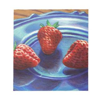Trio de fraise bloc-note