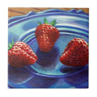 Trio de fraise carreau