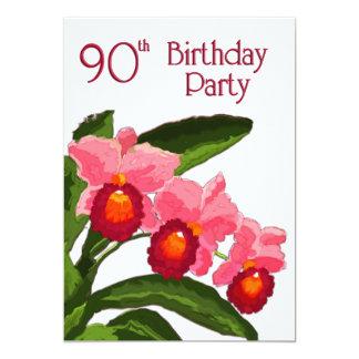 Trio de la fête d'anniversaire de Cattleyas 90 Bristol Personnalisé