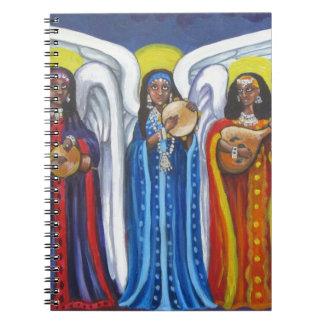 Trio de musique d'ange carnets à spirale