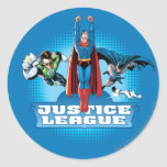 Trio de puissance de ligue de justice sticker rond