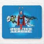 Trio de puissance de ligue de justice tapis de souris