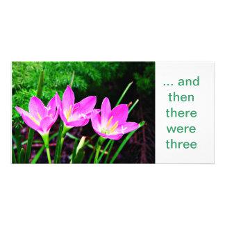 Trio de Rainlily Photocartes Personnalisées