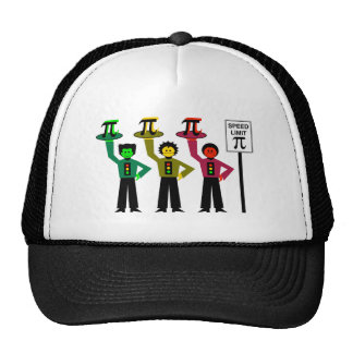Trio déprimé de feu d'arrêt à côté de signe de la casquettes de camionneur