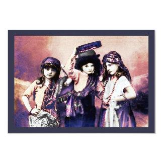 Trio des enfants gitans carton d'invitation 8,89 cm x 12,70 cm