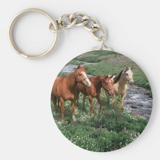 Trio Keychain de cheval Porte-clef