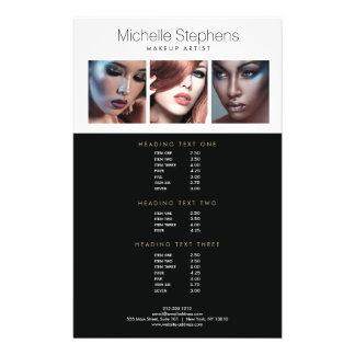Trio moderne de photo pour des listes des prix de prospectus 14 cm x 21,6 cm