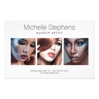 Trio moderne de photo pour des maquilleurs, prospectus 14 cm x 21,6 cm