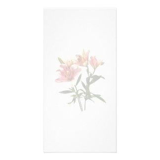 Trio rose de lis cartes avec photo