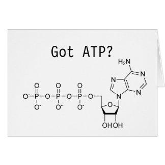Triphosphate d'adénosine obtenu ? carte de vœux