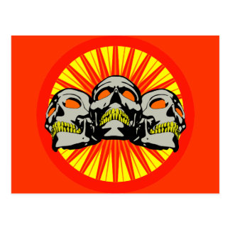 Triple Skulls Carte Postale
