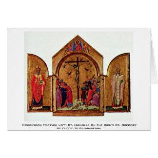 Triptyque de crucifixion laissé : Saint-Nicolas Carte De Vœux