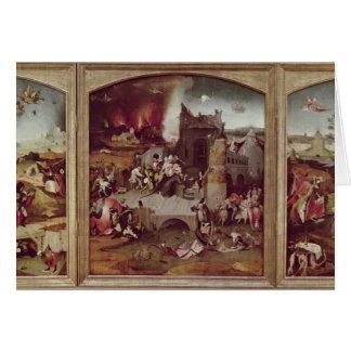 Triptyque de la tentation de St Anthony Carte De Vœux