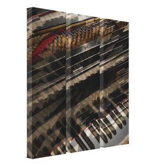 Triptyque de toile d'art abstrait de piano impressions sur toile
