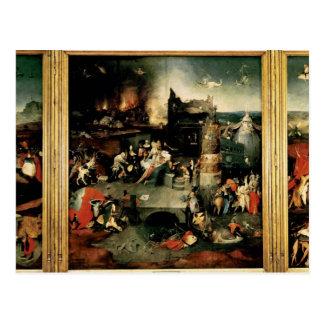 Triptyque : La tentation de St Anthony Carte Postale