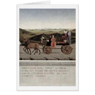 Triumph de Battista Sforza, duchesse d'Urbino. Cartes