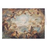 Triumph du cupidon au-dessus de tous les dieux, 17 carte de vœux