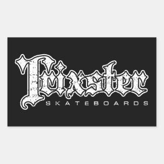 Trixster fait de la planche à roulettes sticker rectangulaire