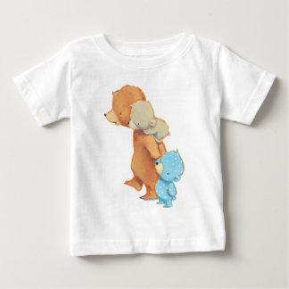 Trois amis adorables d'ours t-shirt pour bébé