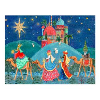 Trois carte postale de vacances des rois |