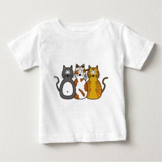 Trois chatons espiègles t-shirt pour bébé