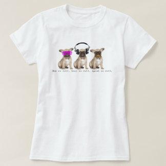Trois chiens sages de Taureau T-shirt