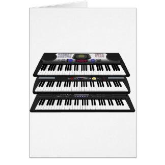 Trois claviers modernes : Synthétiseurs : Carte De Vœux