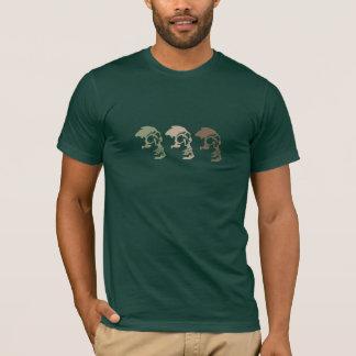 Trois crânes vont commando t-shirt