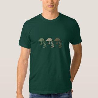 Trois crânes vont commando t-shirts