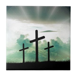 Trois croix carreau