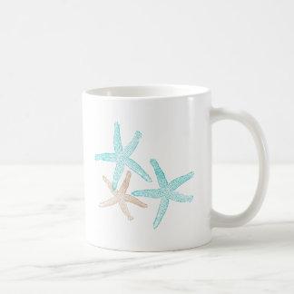 Trois étoiles de mer Teal et Tan Mug