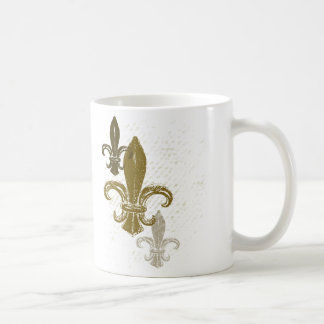 Trois Fleur De Lis Mug Blanc