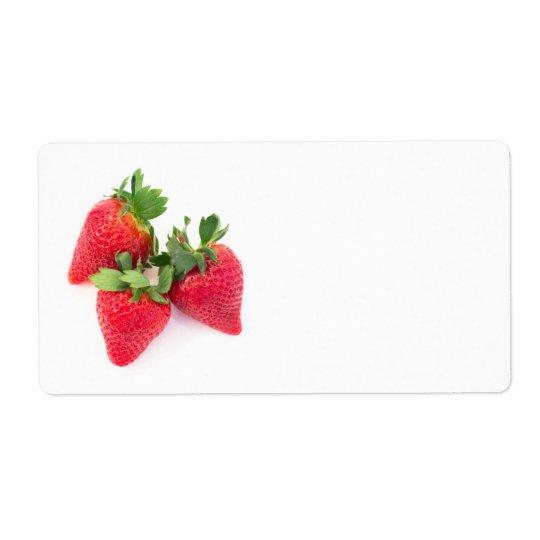 Trois fraises étiquettes d'expédition