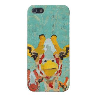 Trois girafes jetantes un coup d'oeil i iPhone 5 case