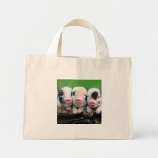 Trois petits porcs - porc mignon - trois porcs mini tote bag