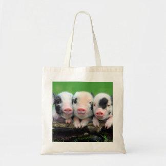 Trois petits porcs - porc mignon - trois porcs sac fourre-tout