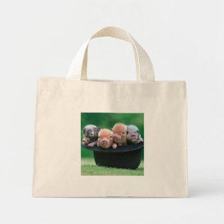Trois petits porcs - trois porcs - casquette de mini tote bag