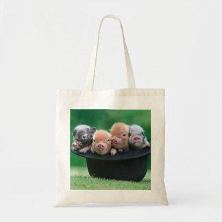 Trois petits porcs - trois porcs - casquette de tote bag