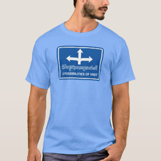 Trois possibilités de signe de visite, Cambodge T-shirt