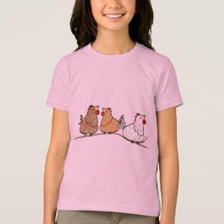 Trois poulets sur un Branche - T-shirt de filles