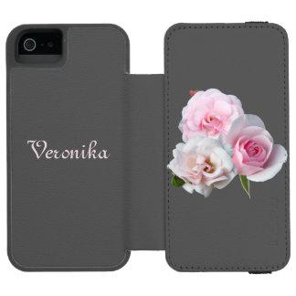Trois roses roses coque-portefeuille iPhone 5 incipio watson™