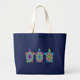 Trois sacs colorés d'obscurité de tortues