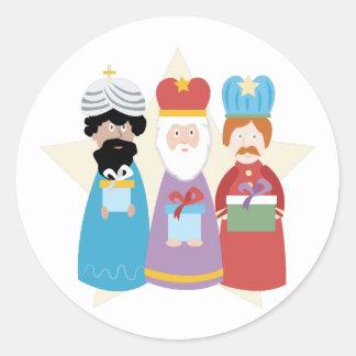 Trois sages sticker rond