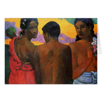 """""""Trois Tahitians"""" - Paul Gauguin Cartes De Vœux"""