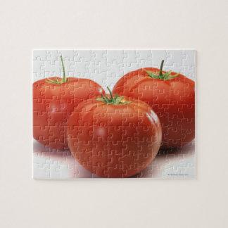 Trois tomates sur le compteur, plan rapproché puzzle