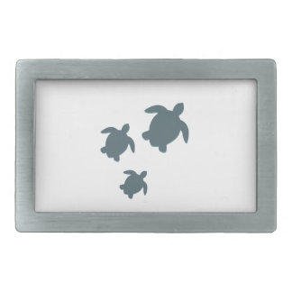 Trois tortues de mer nageant ensemble boucle de ceinture rectangulaire